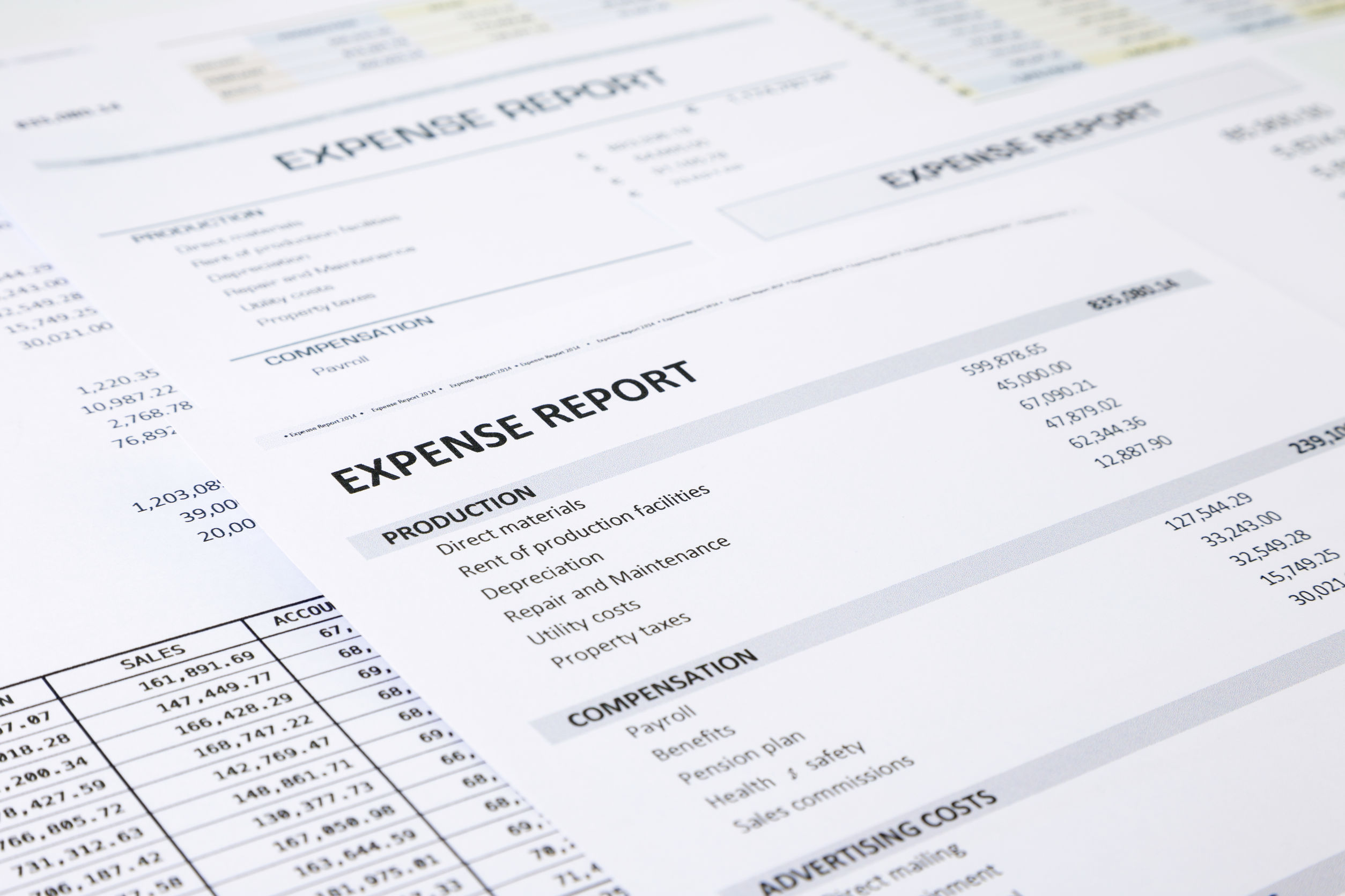 34188175 - Summary Of Business Expense Report Focus On Expense Report Word